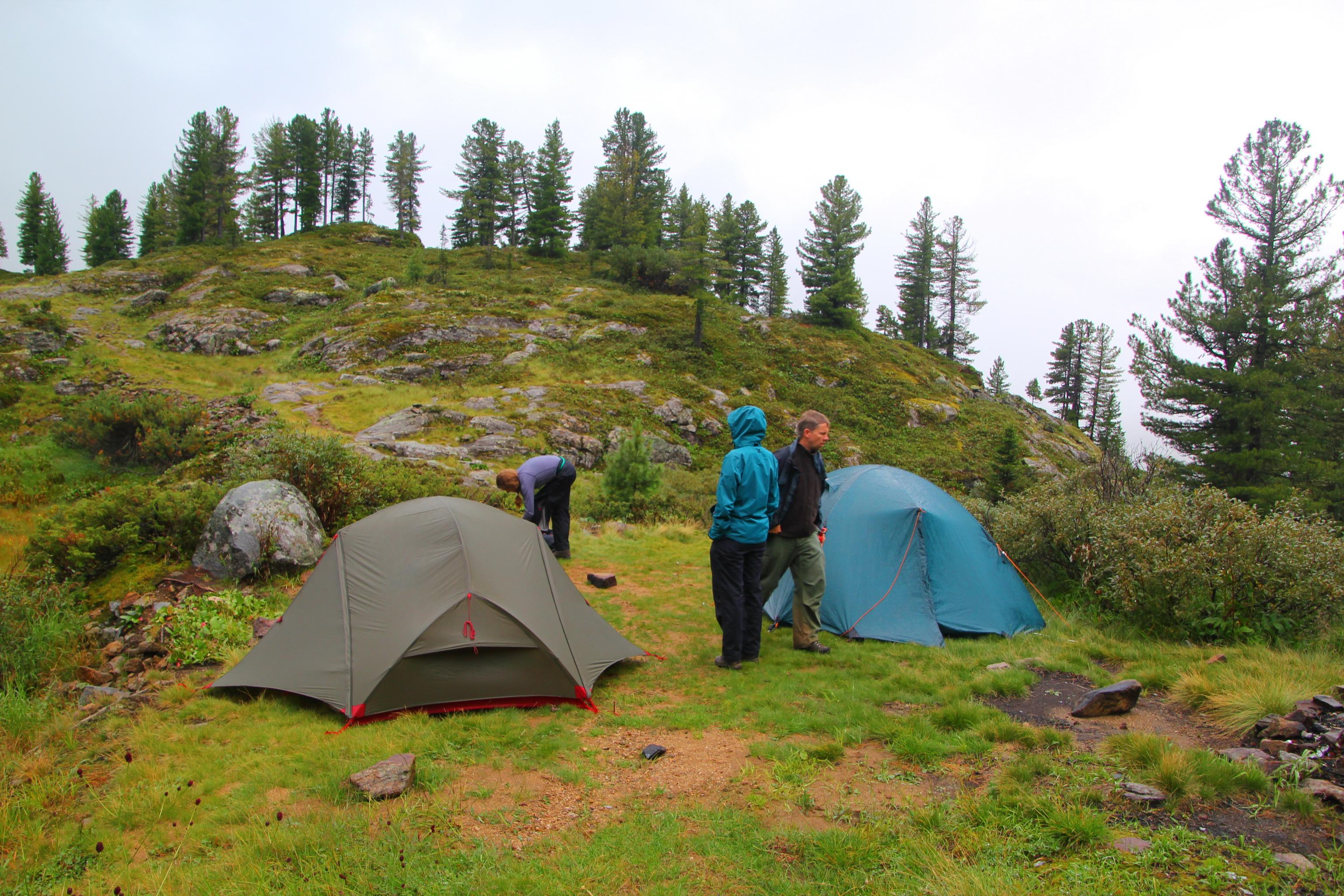 Tábořiště pod Chersky peak