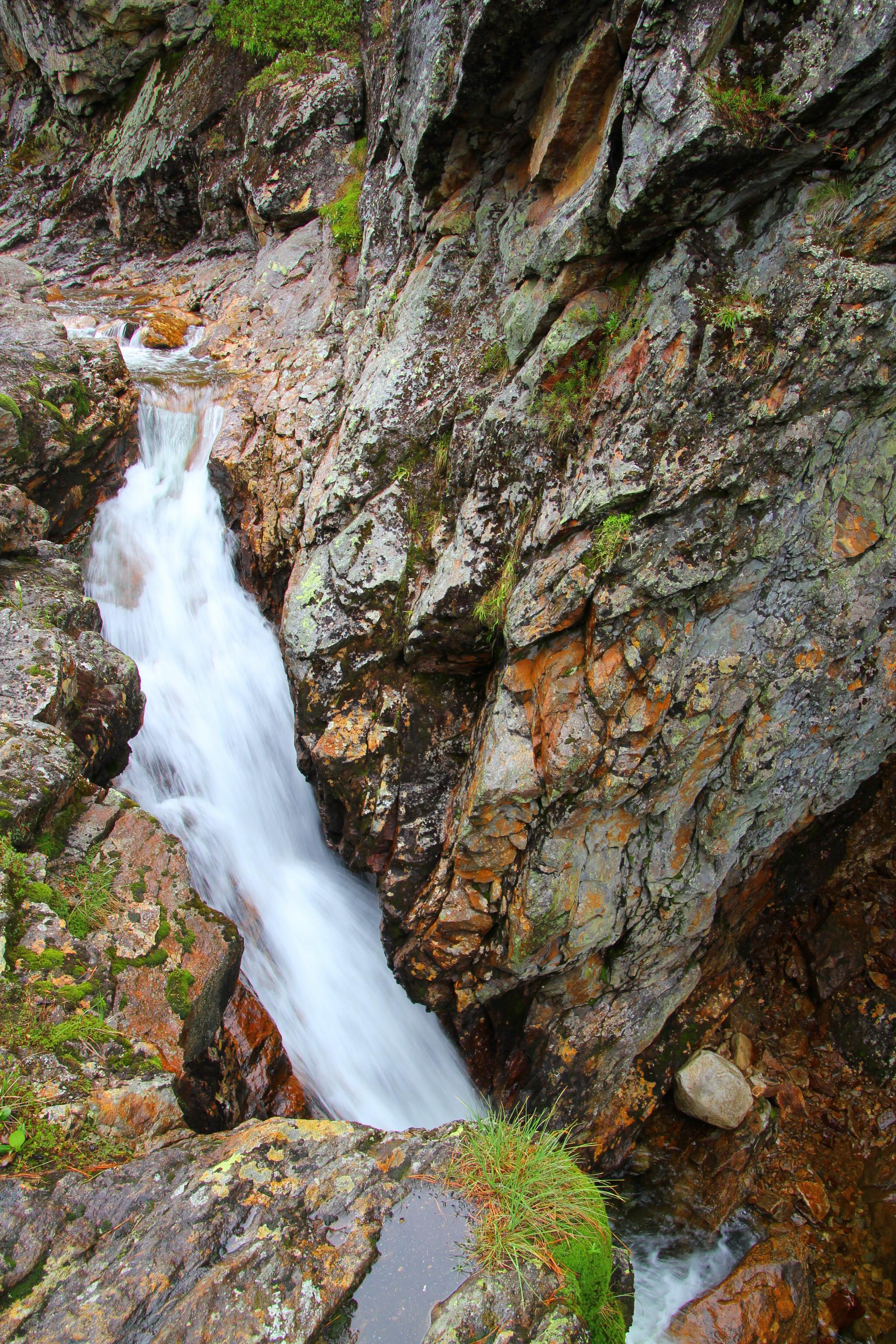 Vodopád pod Čertovým jezerem