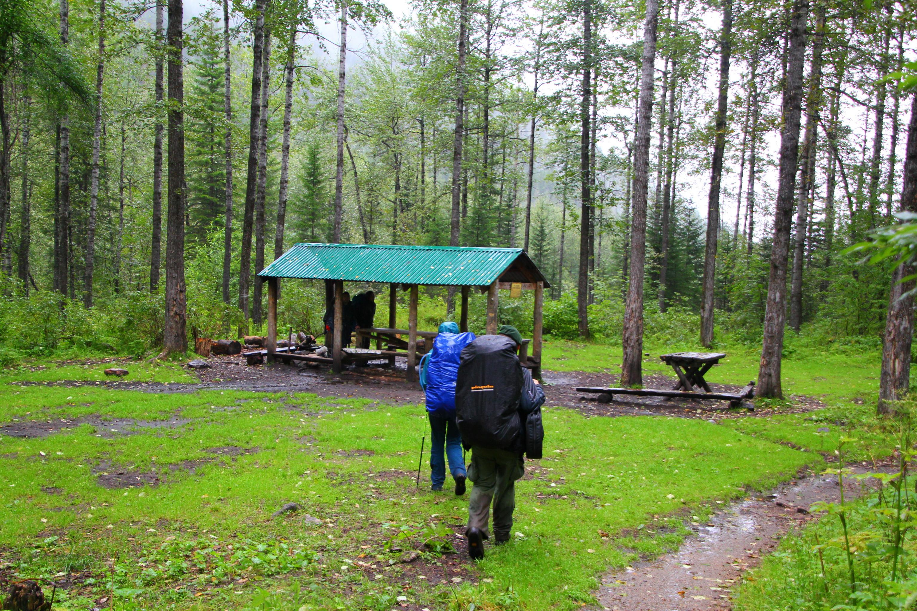 Tábořiště u řeky Sljuďanky