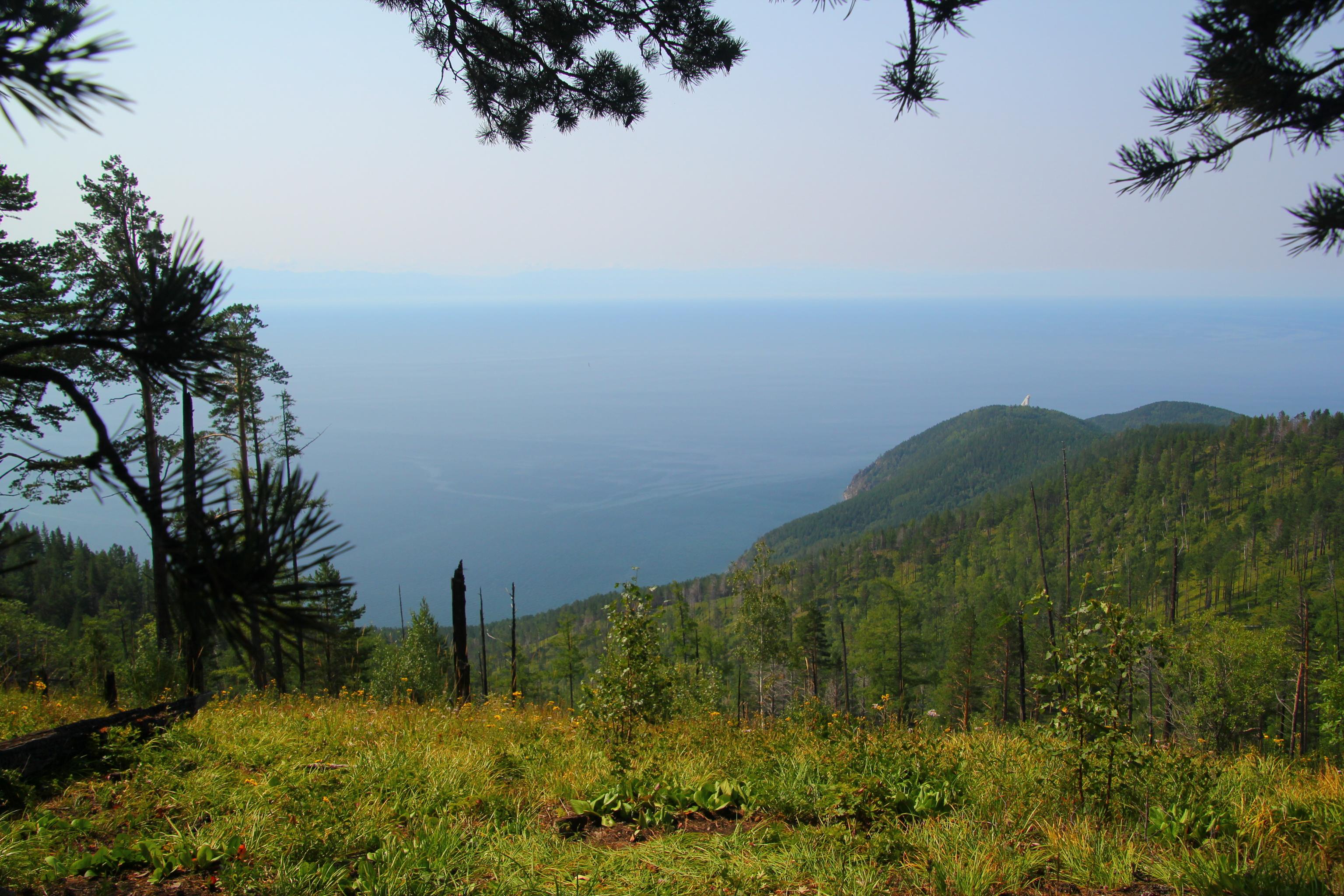 Nejvyšší bod hřebene u Bajkalu