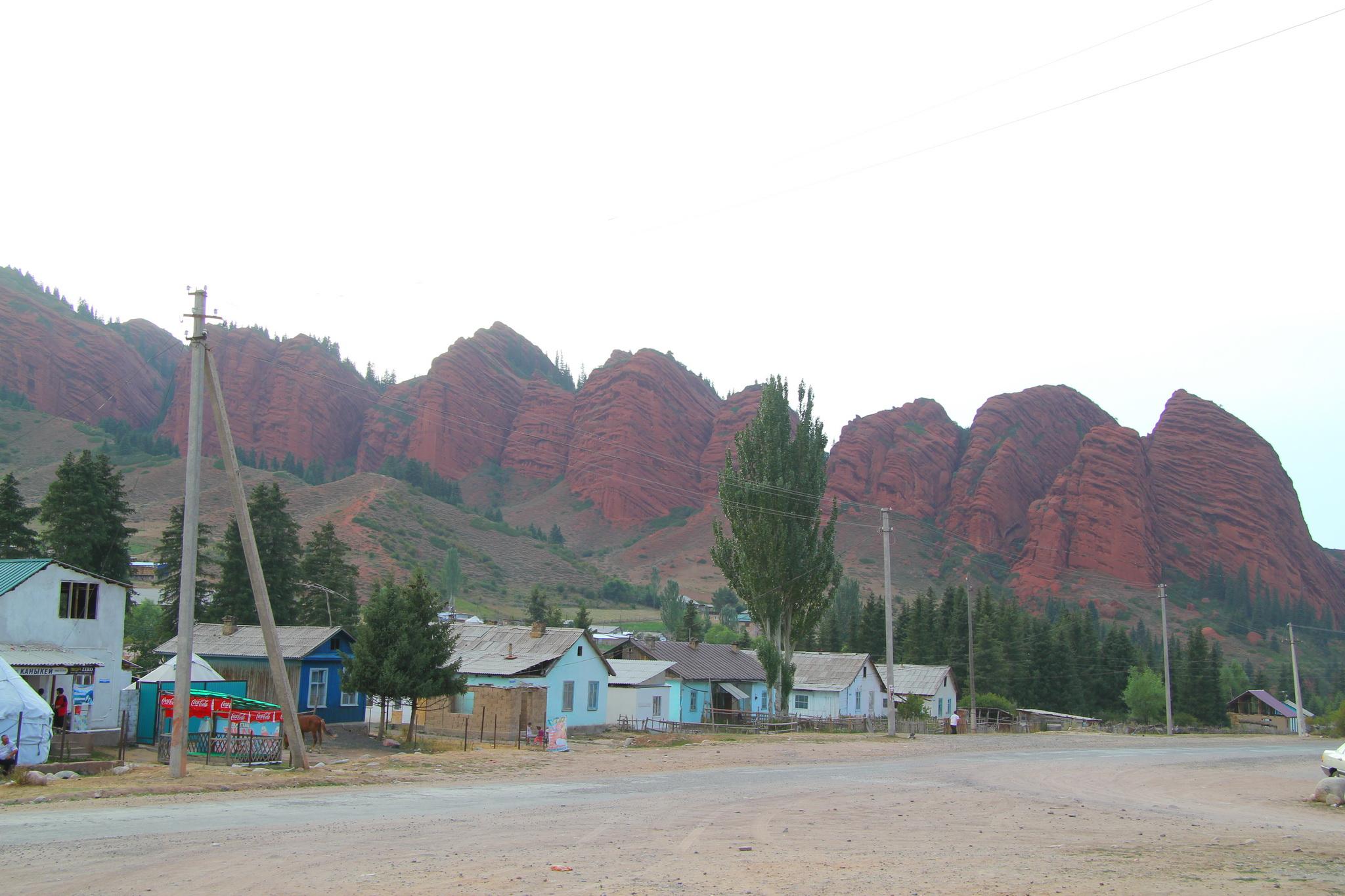 Jeti Oguz - horní část vesnice