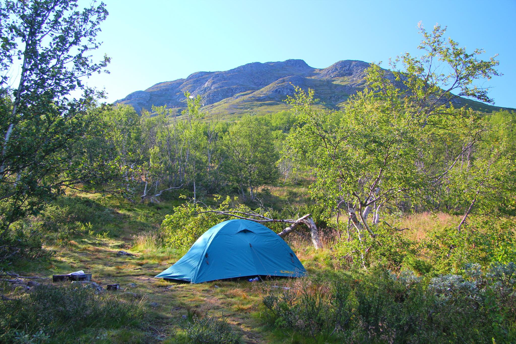 Jotunheimen - Tábořiště na 1. noc