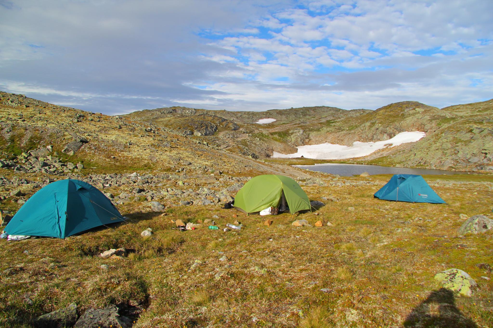 Besseggen - tábořiště na 2. noc