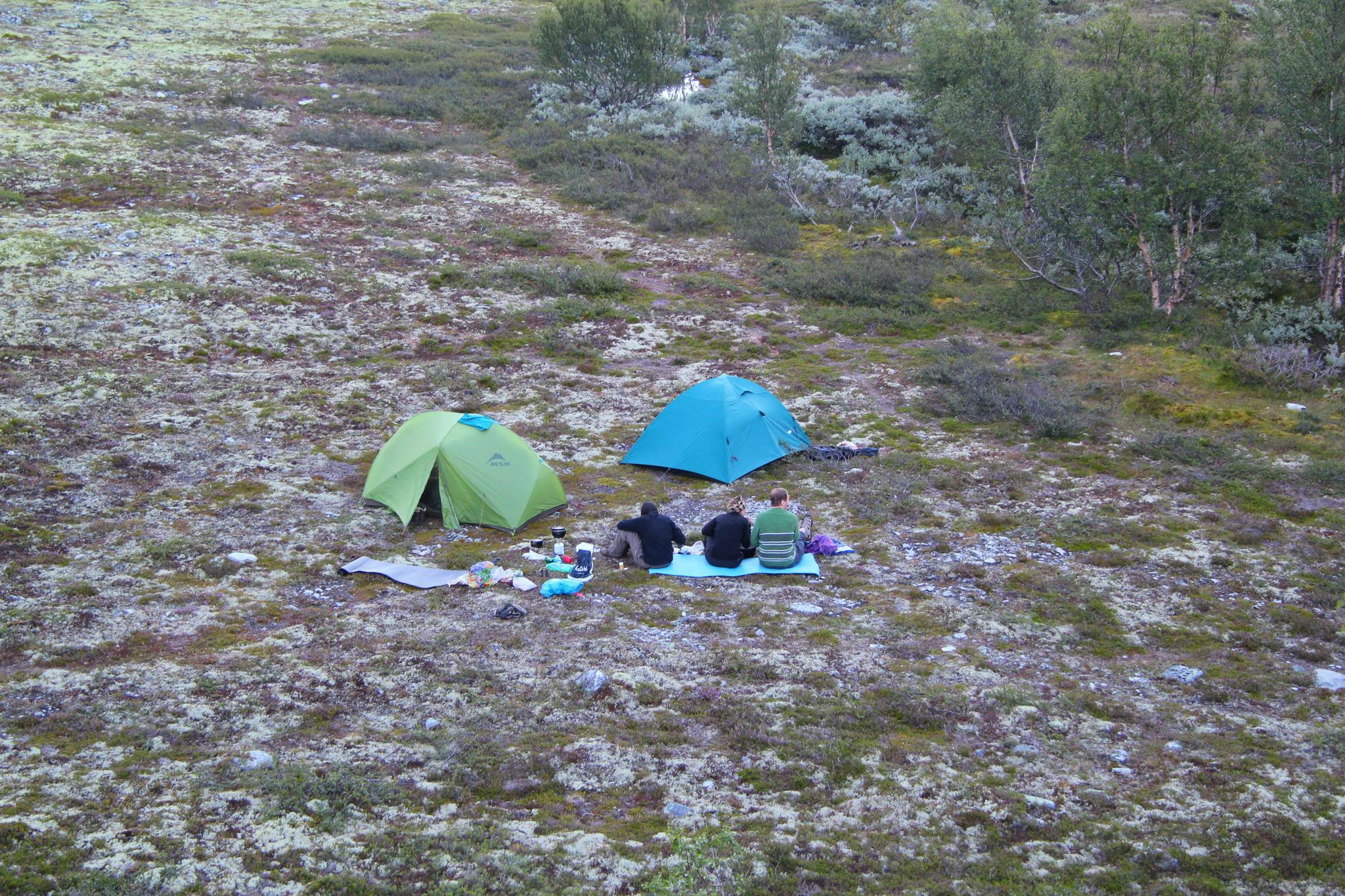 Údolí podél říčky Atna, tábořiště na 5. noc