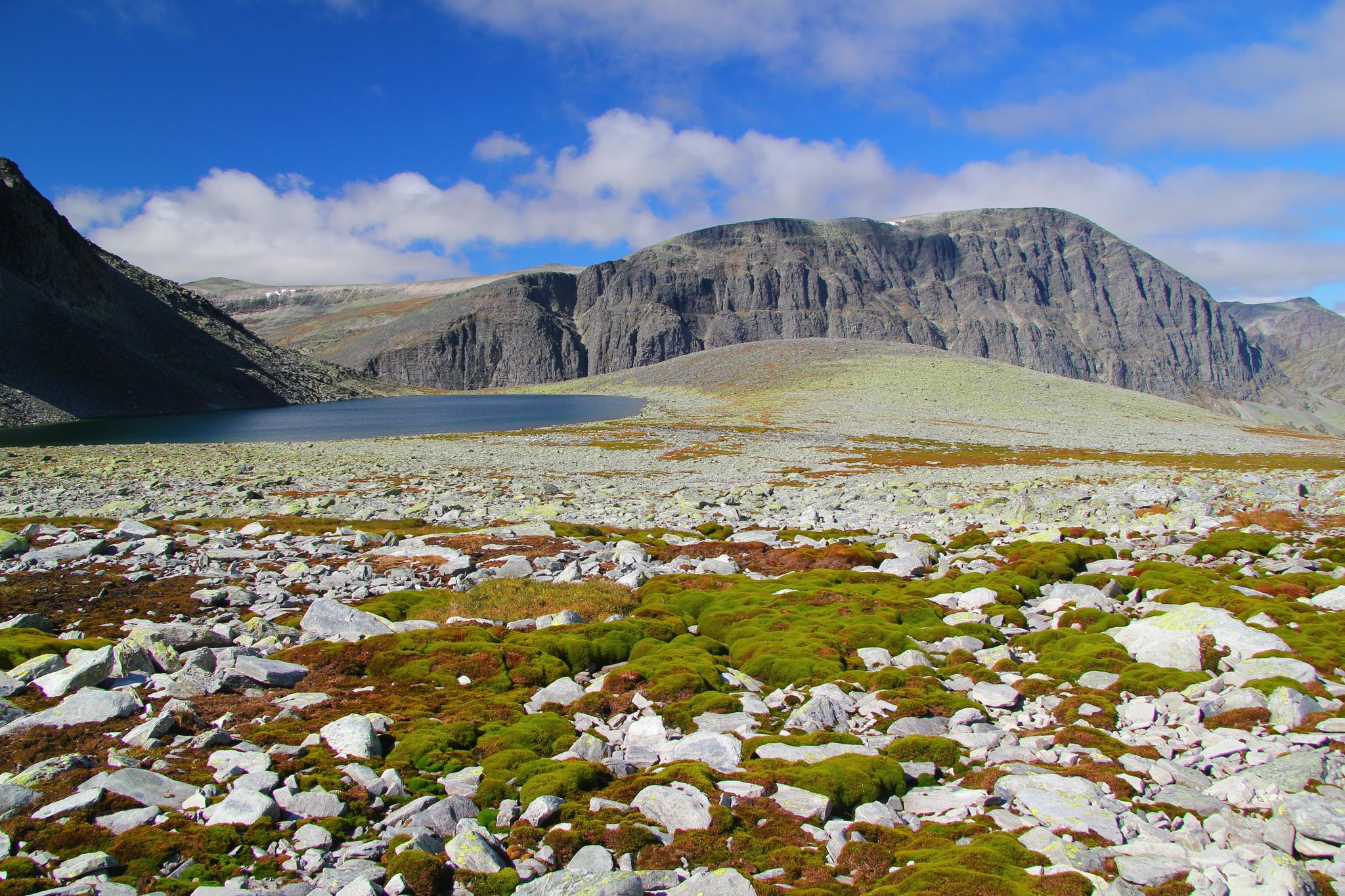 Údolí mezi horami Storsmeden a Trolltinden