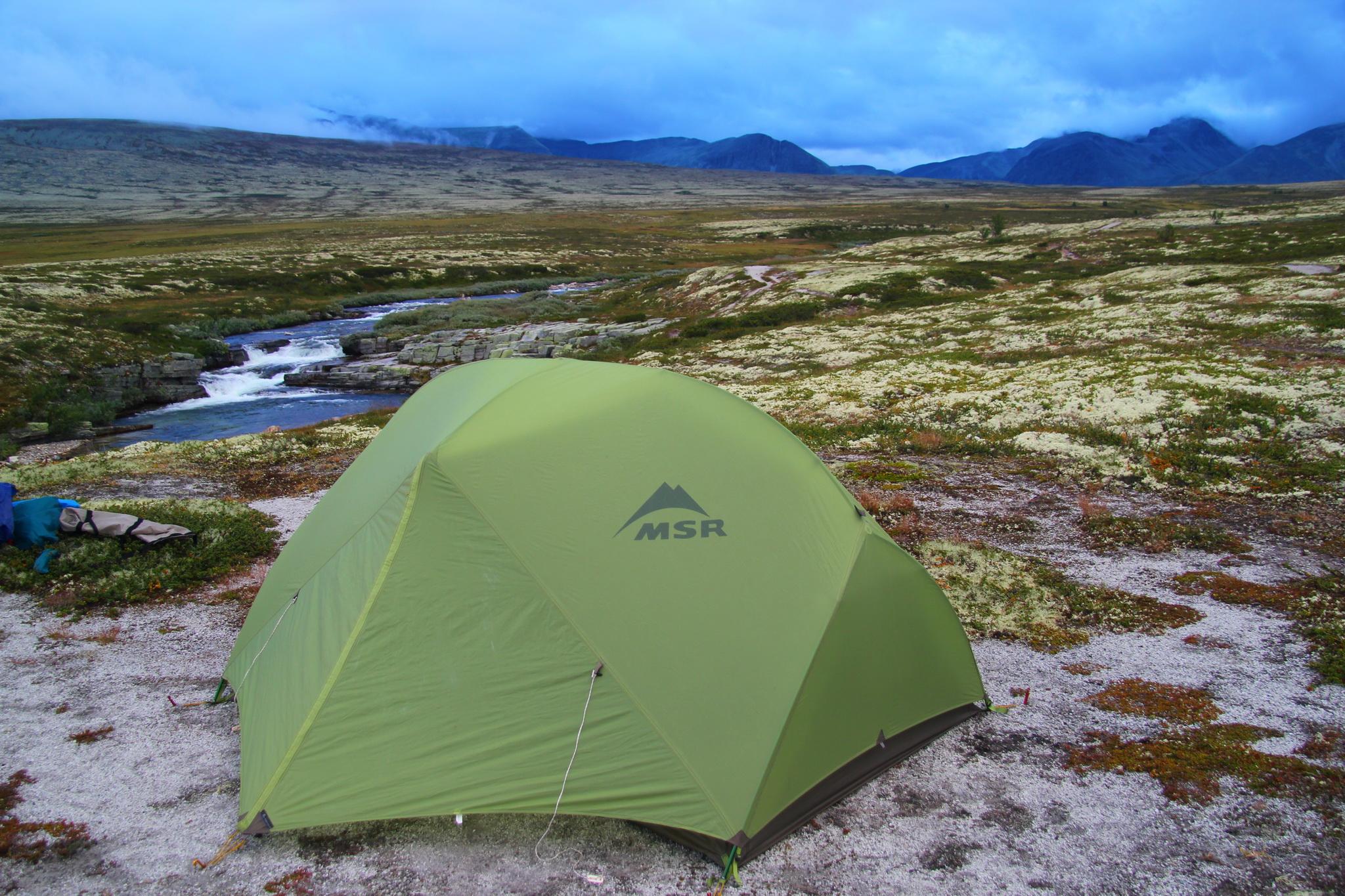 Tábořiště pro 7. noc poblíž vodopádu Storulfossen