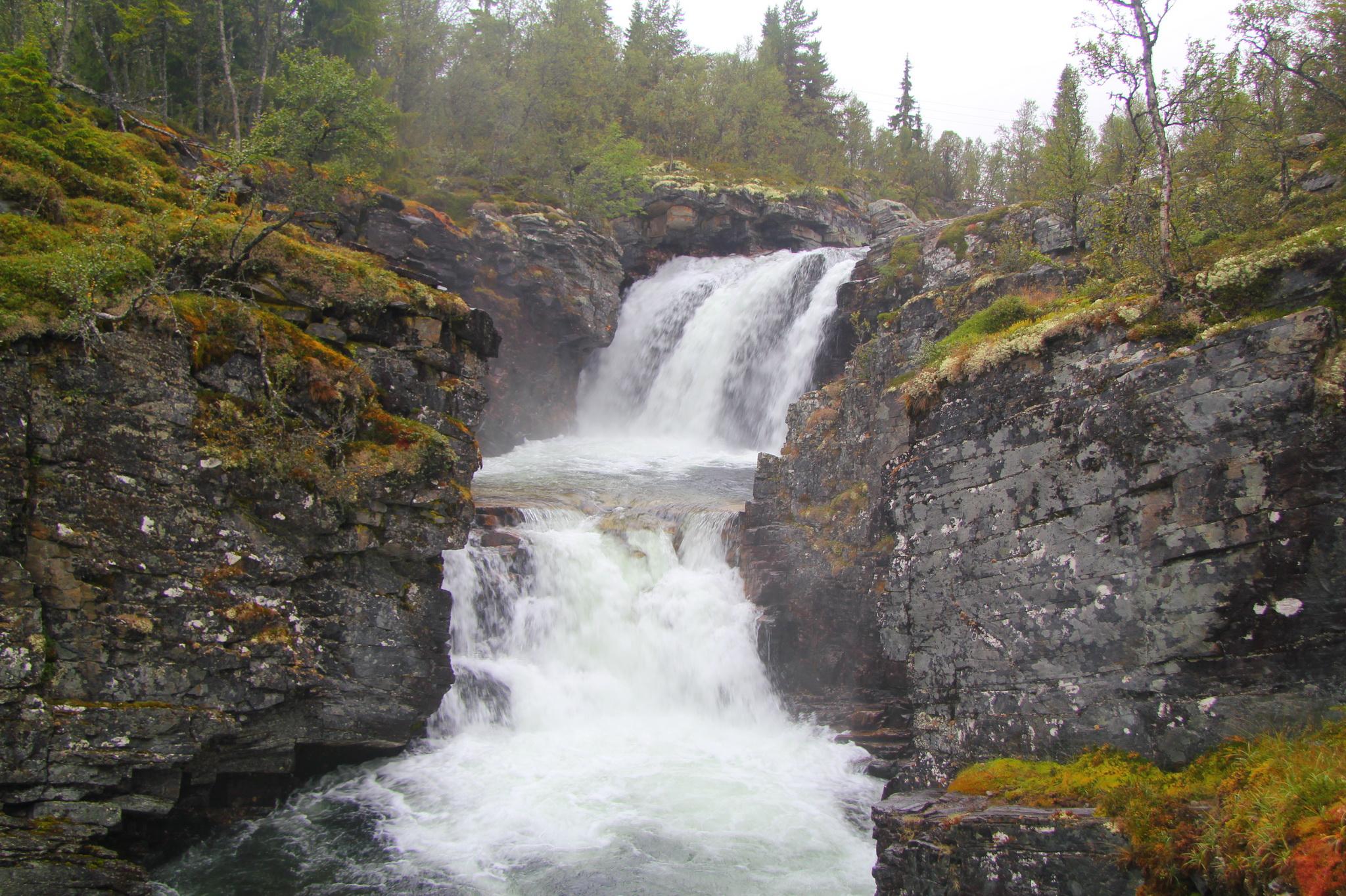 Vodopády u vesnice Mysusater