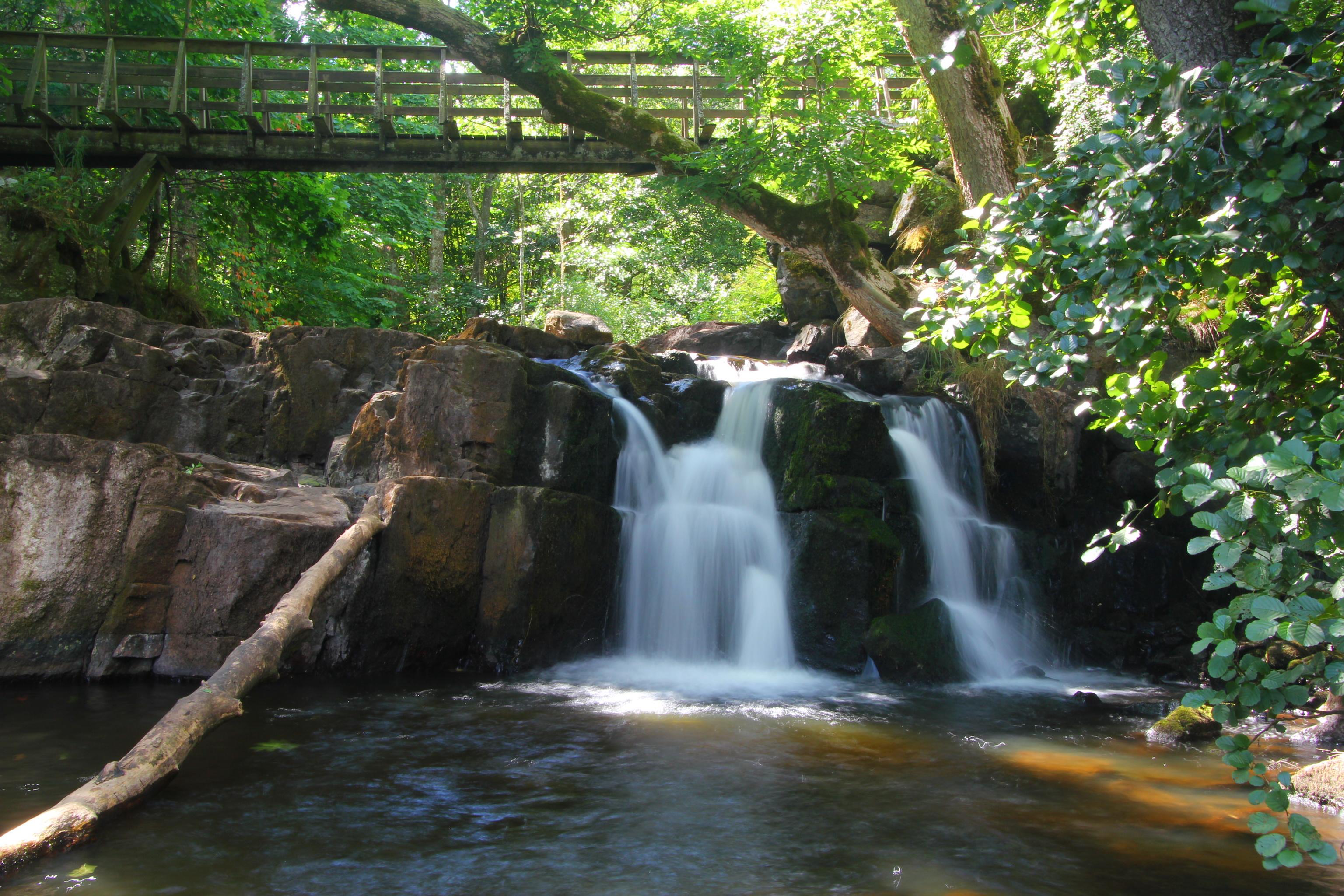 Vodopády Hallamölla Kvarn